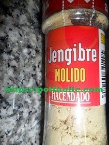 jengibre molido en polvo mercadona