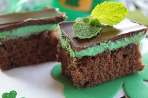 brownie de chocolate con menta