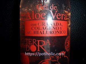 derbos gel de aloe vera con colágeno, aceite de granada y ácido hialurónico