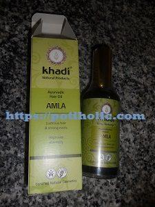 Khadi, marca de cosmetica ayurvedica india. Aceite de amla para fortalecer el cabello.