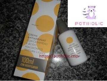 mercadona deliplus crema antiarrugas con ceramidas y acido..