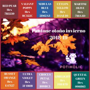 Pantone otoño invierno 2018 2019