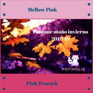 Mellow Pink y Pink Peacock Pantone