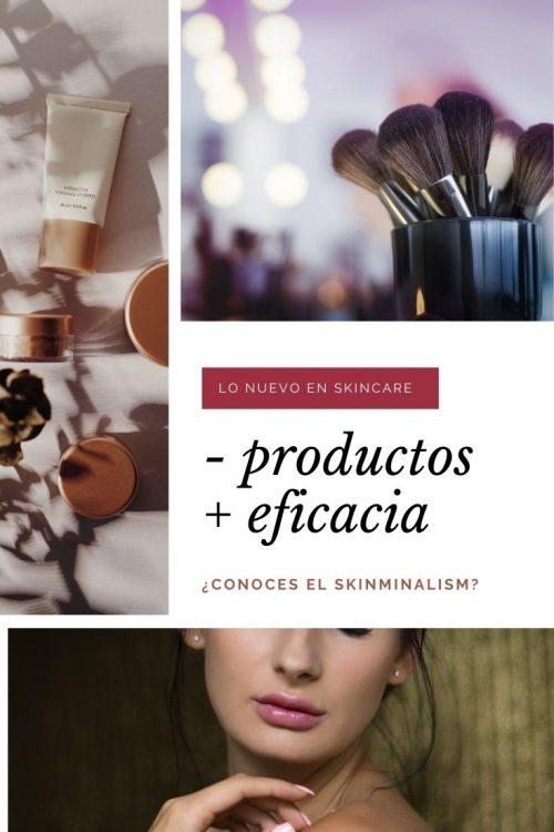 menos productos y mas eficacia skinminalism