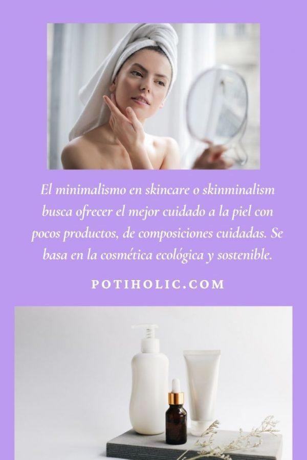 el mejor cuidado de la piel con pocos productos o minimalismo skincare